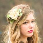 rustic bridal headpiece, woodland w..