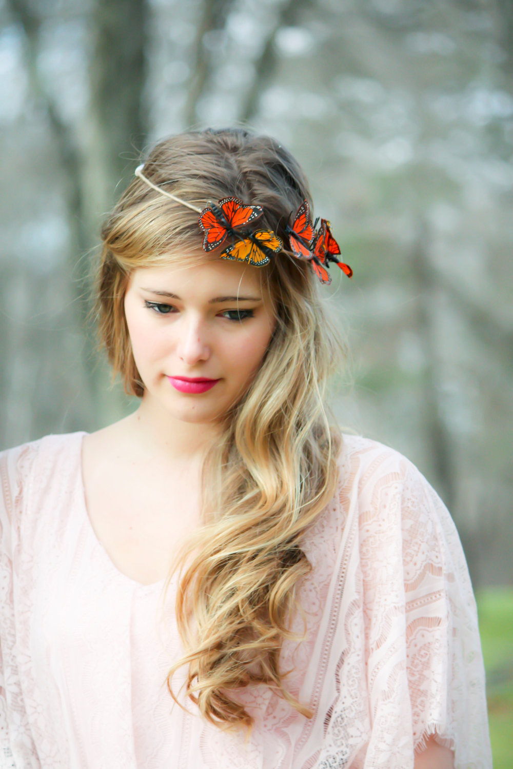 gold and monarch butterfly hair crown butterfly hair crown on