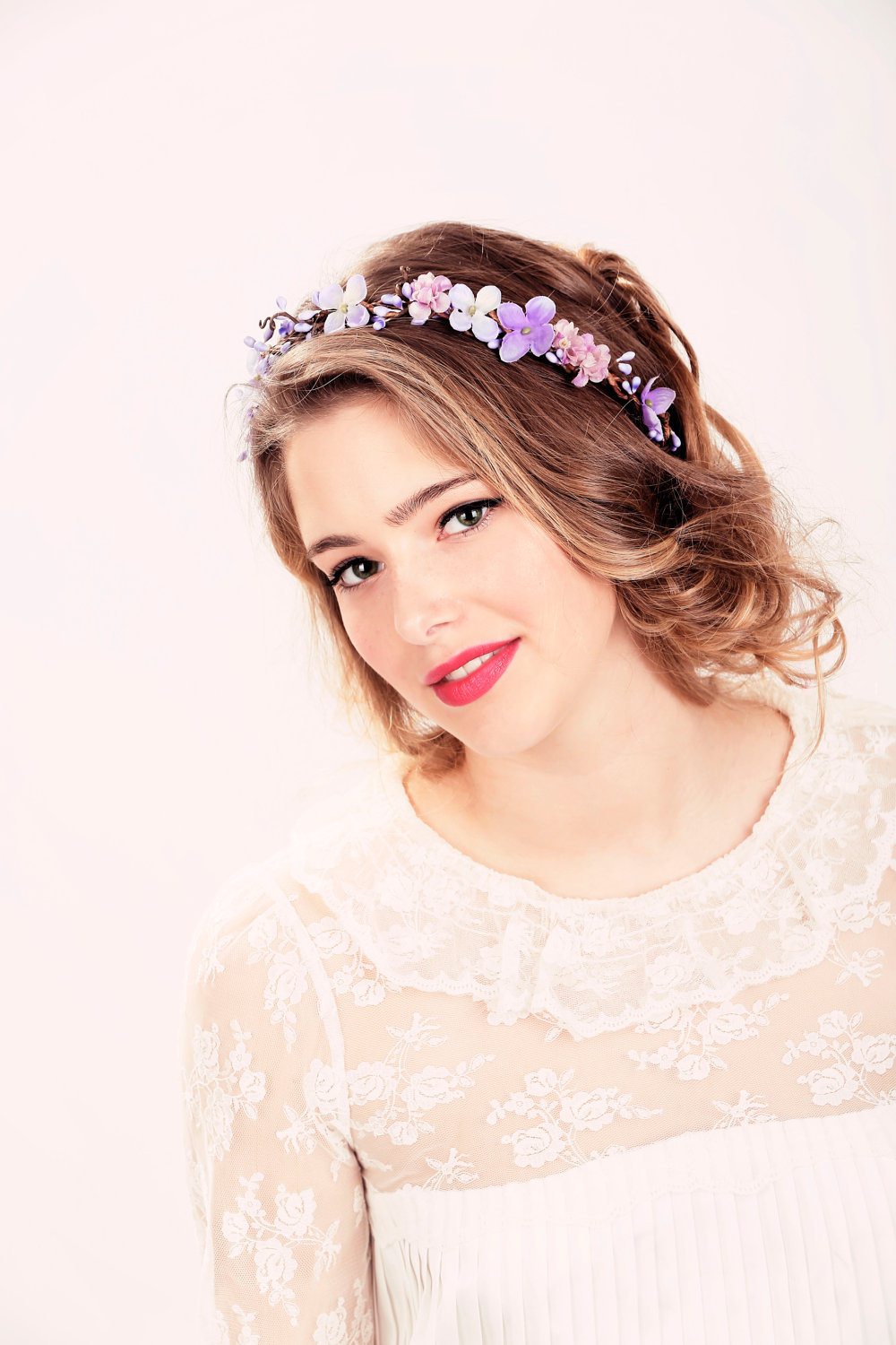 Bridal flower crown purple flower woodland wedding wedding hair bridal flower crown purple flower woodland wedding wedding hair accessory izmirmasajfo