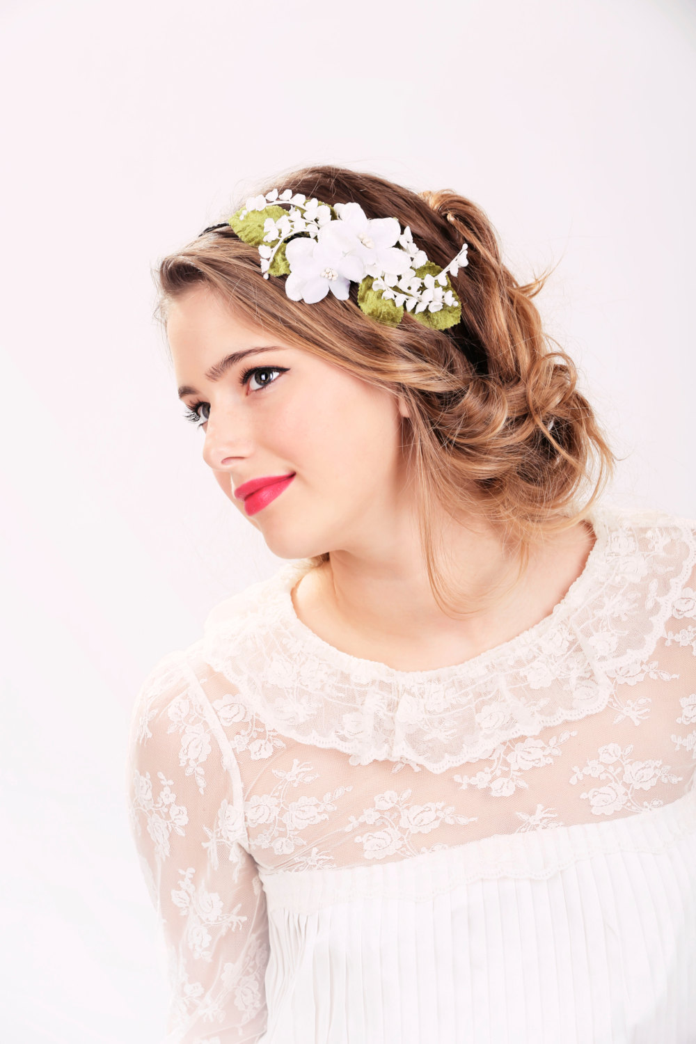 Wedding Headband Bridal Hair Wedding Hair Accessory White Flower