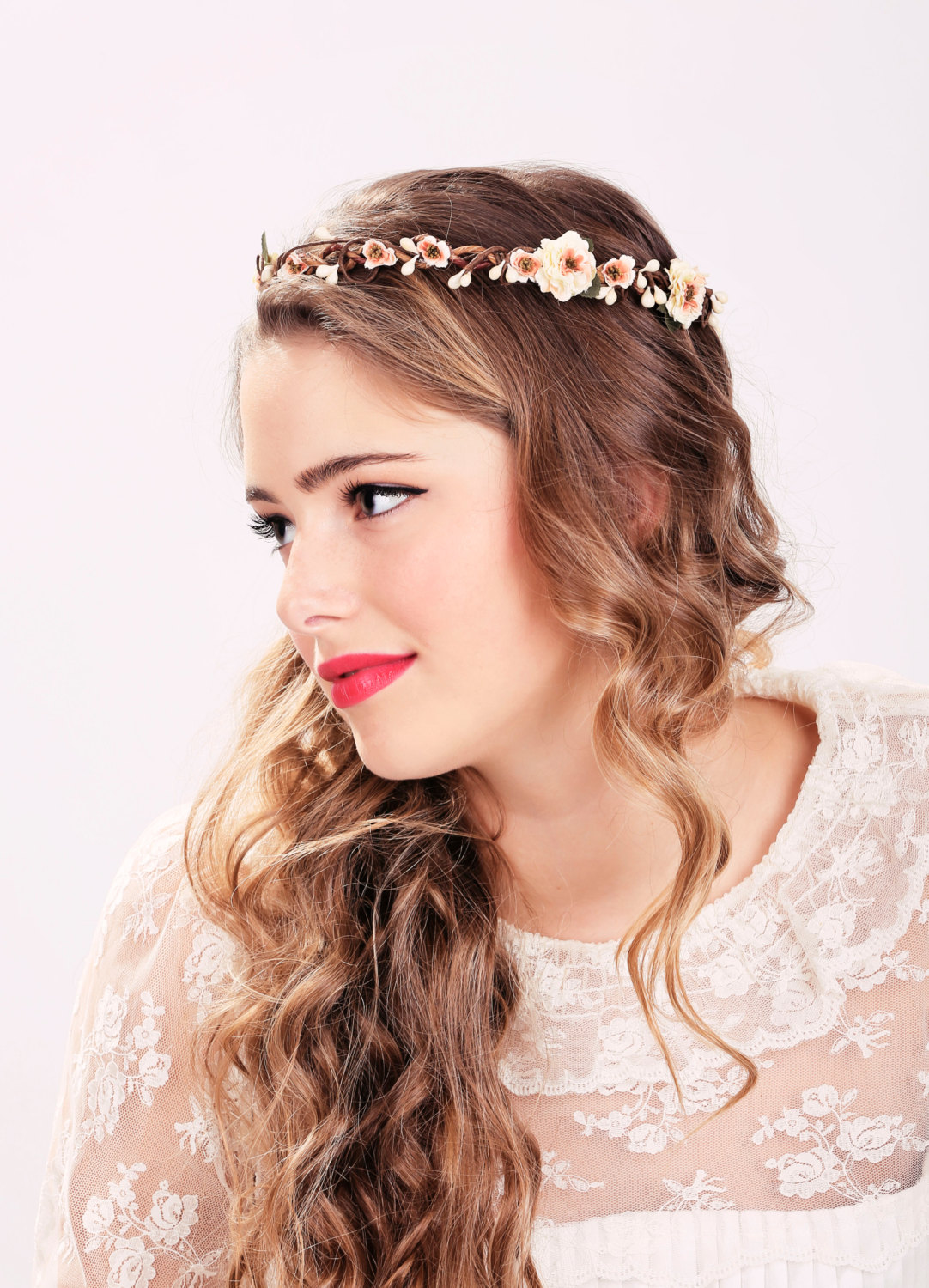 Peach Blossom Flower Crown a25dbc156dc