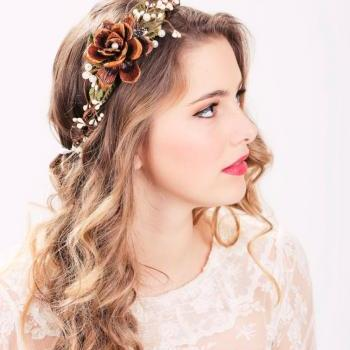 flower crown, wedding headpiece, bridal headband