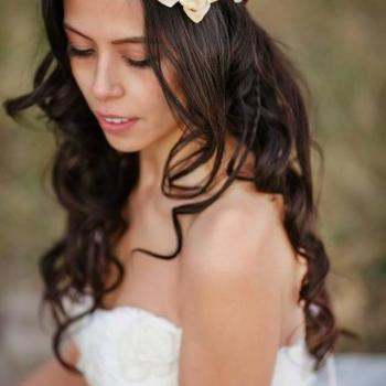 Autumn headband, fall wedding, ivory bridal head piece, pine cone rose head piece, rustic wedding