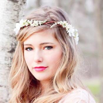 Bridal Flower hair, wedding accessories, wedding headpiece, Headband, head wreath, hair accessories, bridal, flower girl