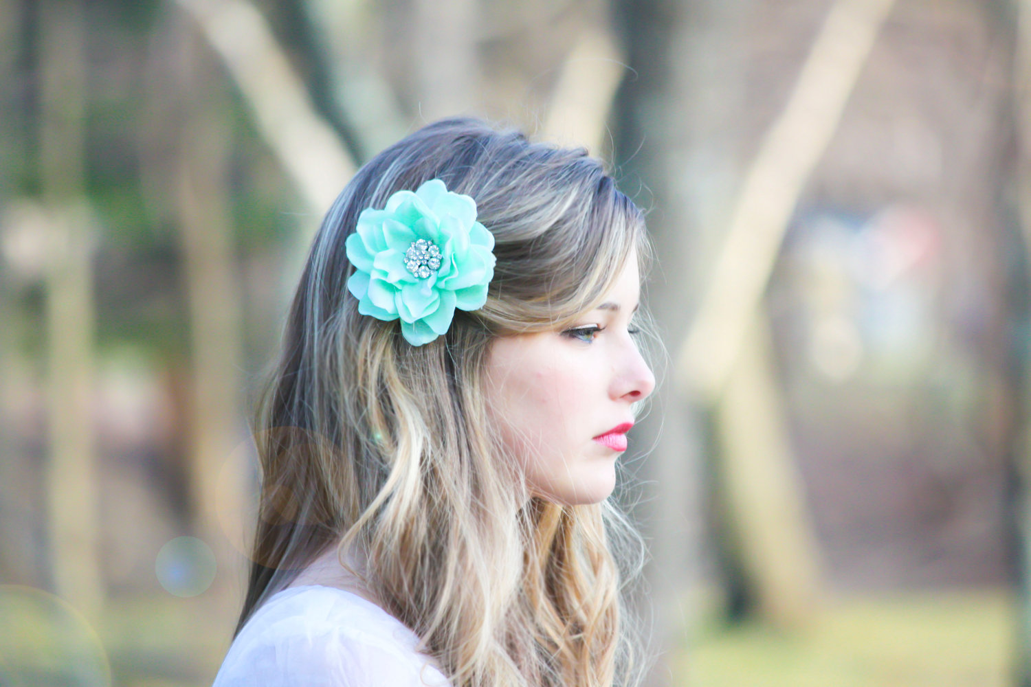 Seafoam flower hair clip mint green hair clip something blue seafoam flower hair clip mint green hair clip something blue wedding bridesmaid hair clip izmirmasajfo